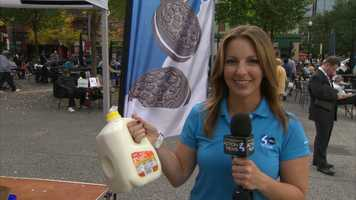 The final number was 2,152 cookies simultaneously dunked in milk -- a new world record.