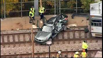 The crash happened at a crossing on the Red Line near Potomac Station.