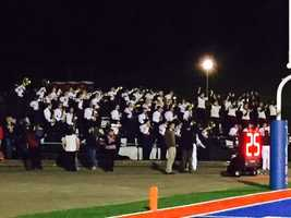 Band and fans at the McKeesport-Norwin game