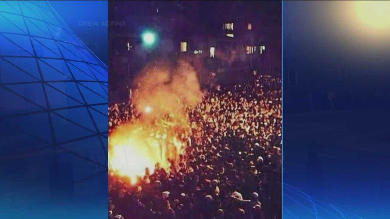Pittsburgh's Action News 4's Janelle Hall has the latest into the investigations by school officials and law enforcement into the riots at WVU was this weekend's football game.