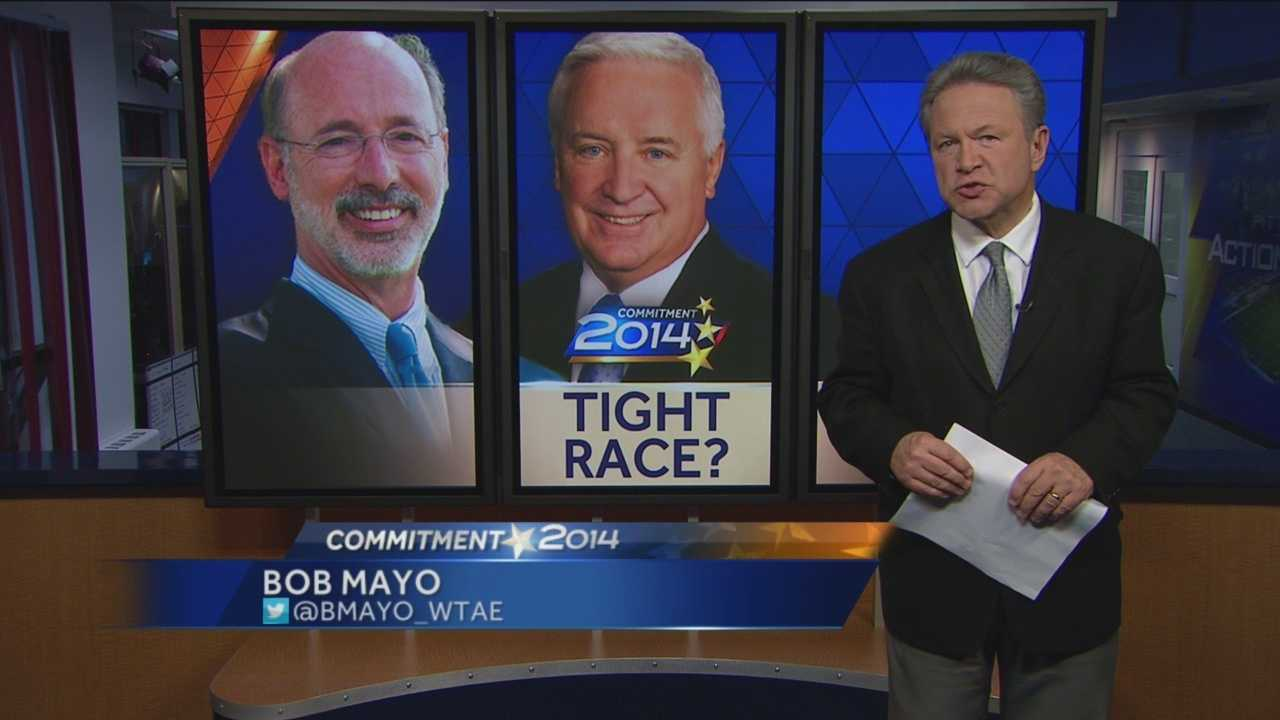 Pittsburgh's Action News 4's Bob Mayo looks into the latest polling to determine if it it a tight race for Pennsylvania Governor as some may say.