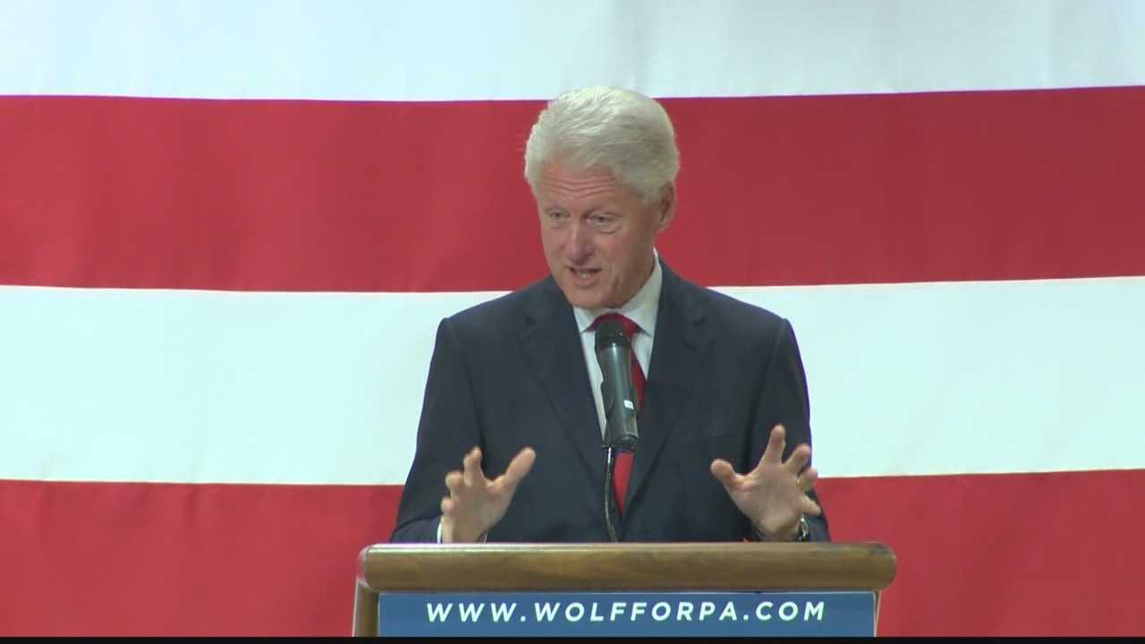 Pittsburgh's Action News 4's Sheldon Ingram takes a look at Monday's visit and speech by former US President Bill Clinton on bahlf of the Tom WOlf campaign in Pittsburgh.