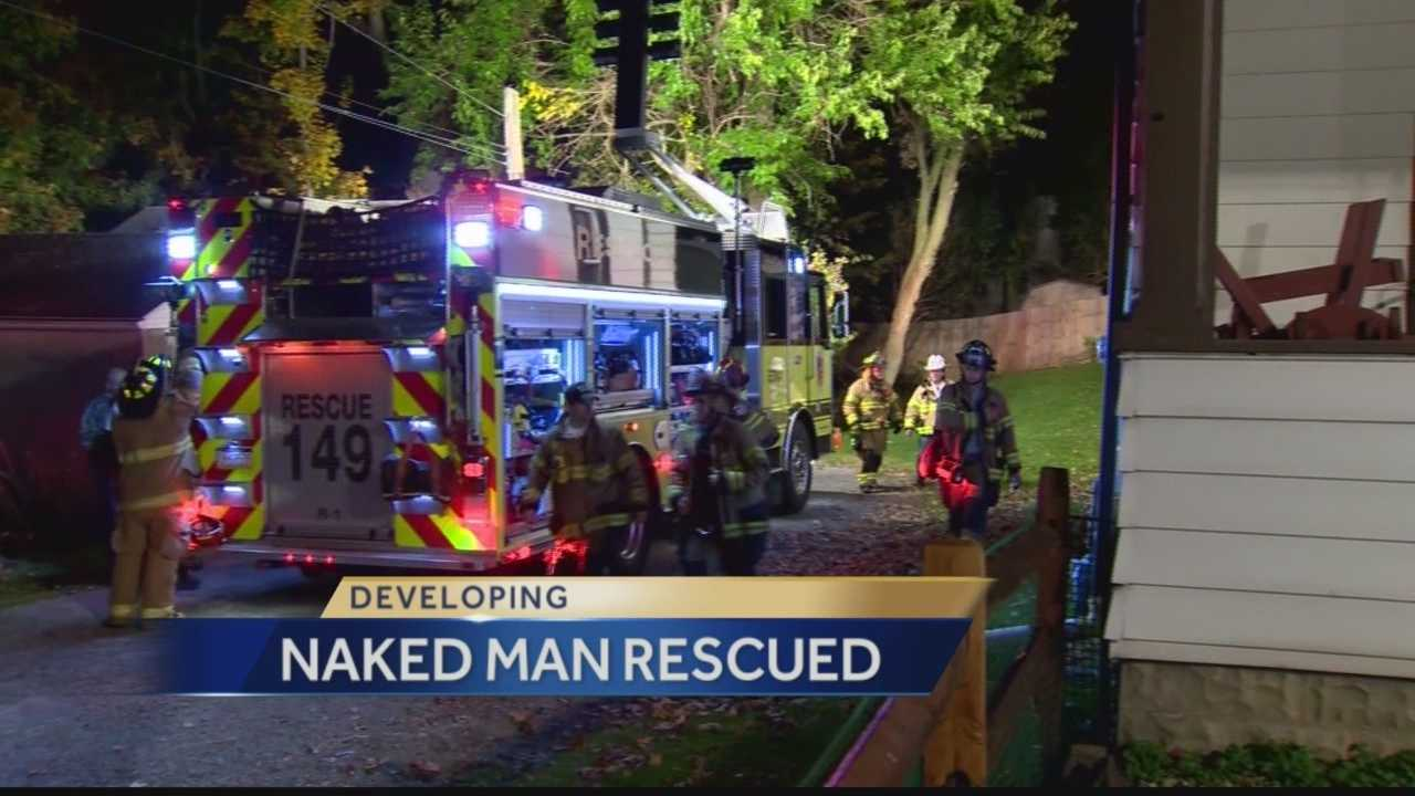 Pittsburgh's Action News 4's Amber Nicotra has the latest into the unusual rescue that occurred last night in Shaler township with a naked man.