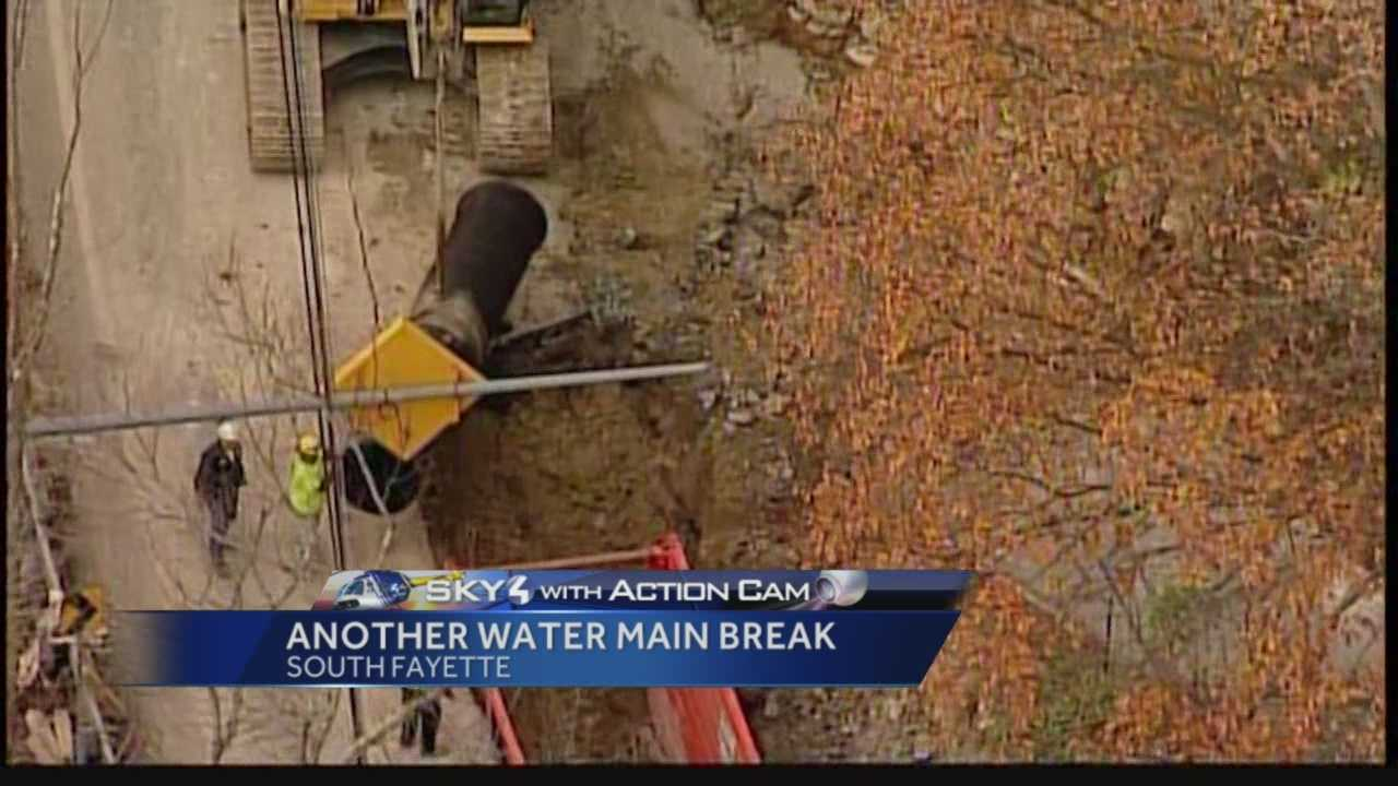 Pittsburgh's Action News 4's Matt Belanger has the latest on the on-going repairs on Boyce Road by American Water Company that has resulted in a third main break in three days.