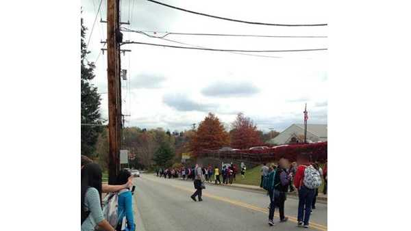 Gateway High School in Monroeville was evacuated because of a bomb threat.