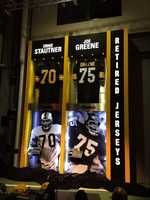 Joe Greene and Ernie Stautner are the only players to have their jersey numbers retired by the Steelers.
