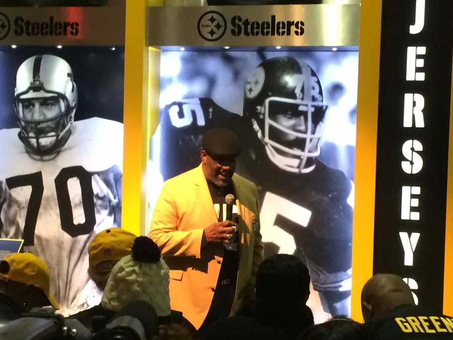 The Steelers retired Joe Greene's jersey number (75).