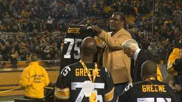 """Nobody will ever wear No. 75 for the Pittsburgh Steelers again. """"Mean"""" Joe Greene is the second player in franchise history to get his number retired."""