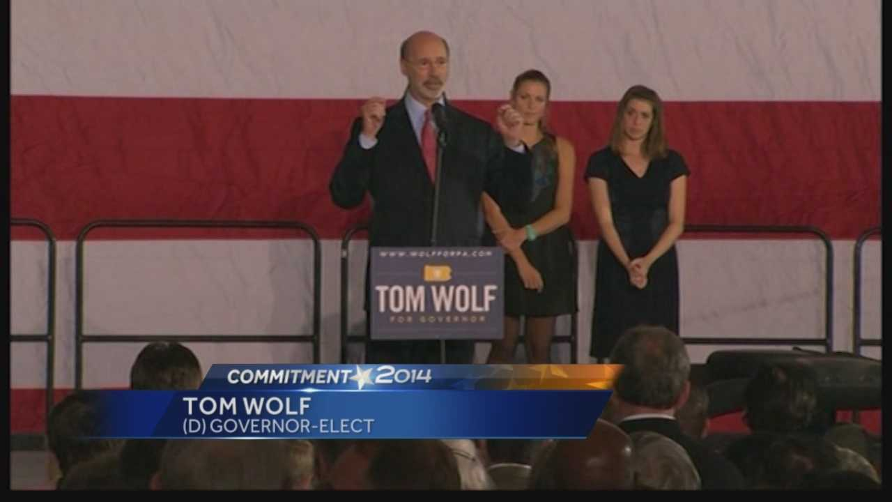 Tom Wolf at his victory party in York County, PA