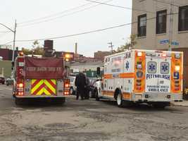 Pittsburgh's Action News 4's Amber Nicotra sent back in these photos from the scene of the crash in Pittsburgh's Strip District on Wednesday morning.