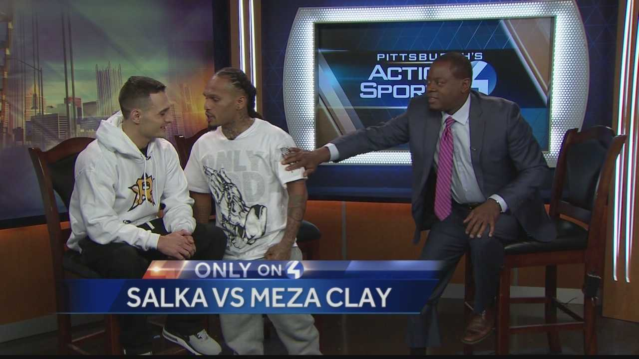 Pittsburgh's Action Sports Director Andrew Stockey was interviewing two local boxers, Salka and Meza Clay,   who are scheduled for an upcoming fight, when during the interview, the two boxers began to argue and the situation got heated on the set at the WTAE Studios.