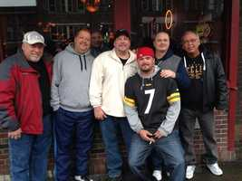 "#steelers fans from Pittsburgh hanging out at ""The Second Fiddle"" on Broadway in Nashville @WTAE"