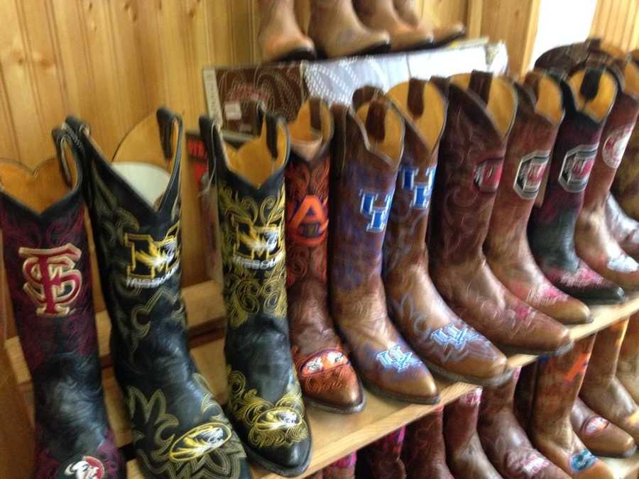 "These are some big time boots from ""Big Time Boots"" on Broadway in Nashville @WTAE"