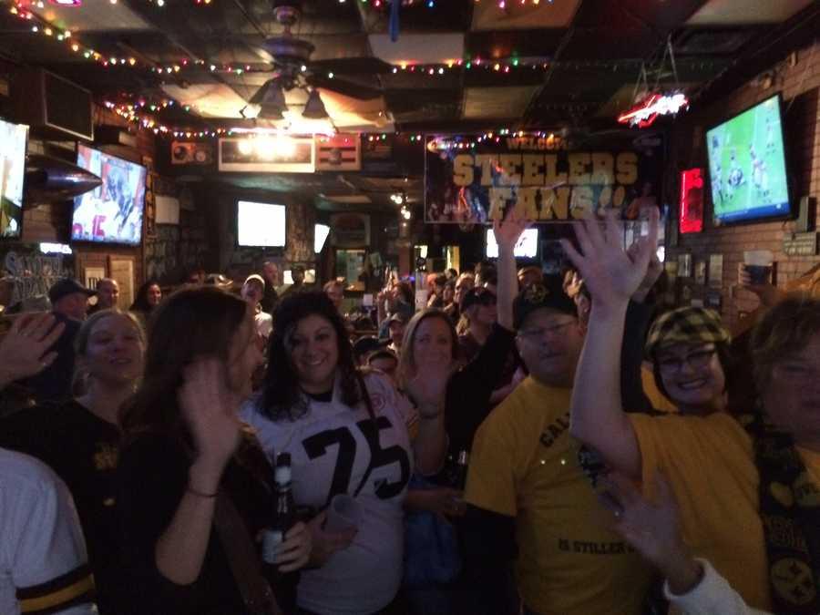Chanting fans at Piranha's