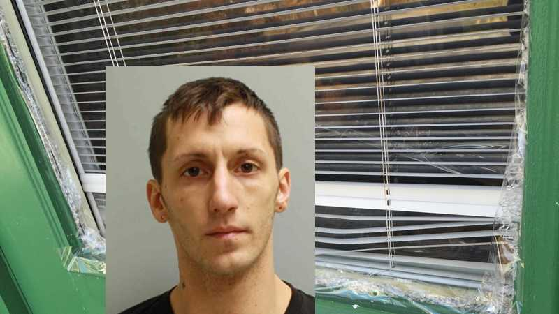 Penn Township police say 27-year-old Anthony Giacchino is charged with a burglary at the Bronzing Point tanning salon.