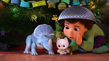 """""""Toy Story That Time Forgot,"""" a new Christmas special featuring your favorite characters from the """"Toy Story"""" films, will air on TUESDAY, DECEMBER 2 (8:00-8:30 p.m., ET) and TUESDAY, DECEMBER 23 (8:30-9:00 p.m., ET). During a post-Christmas play date, the """"Toy Story"""" gang find themselves in uncharted territory when the coolest set of action figures ever turn out to be dangerously delusional. It's all up to Trixie, the triceratops, if the gang hopes to return to Bonnie's room in this """"Toy Story That Time Forgot."""" (Disney/Pixar 2014)"""
