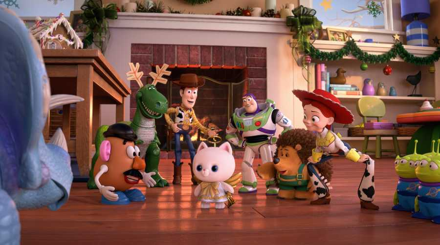 """Toy Story That Time Forgot,"" a new Christmas special featuring your favorite characters from the ""Toy Story"" films, will air on TUESDAY, DECEMBER 2 (8:00-8:30 p.m., ET) and TUESDAY, DECEMBER 23 (8:30-9:00 p.m., ET). During a post-Christmas play date, the ""Toy Story"" gang find themselves in uncharted territory when the coolest set of action figures ever turn out to be dangerously delusional. It's all up to Trixie, the triceratops, if the gang hopes to return to Bonnie's room in this ""Toy Story That Time Forgot."" (Disney/Pixar 2014)"