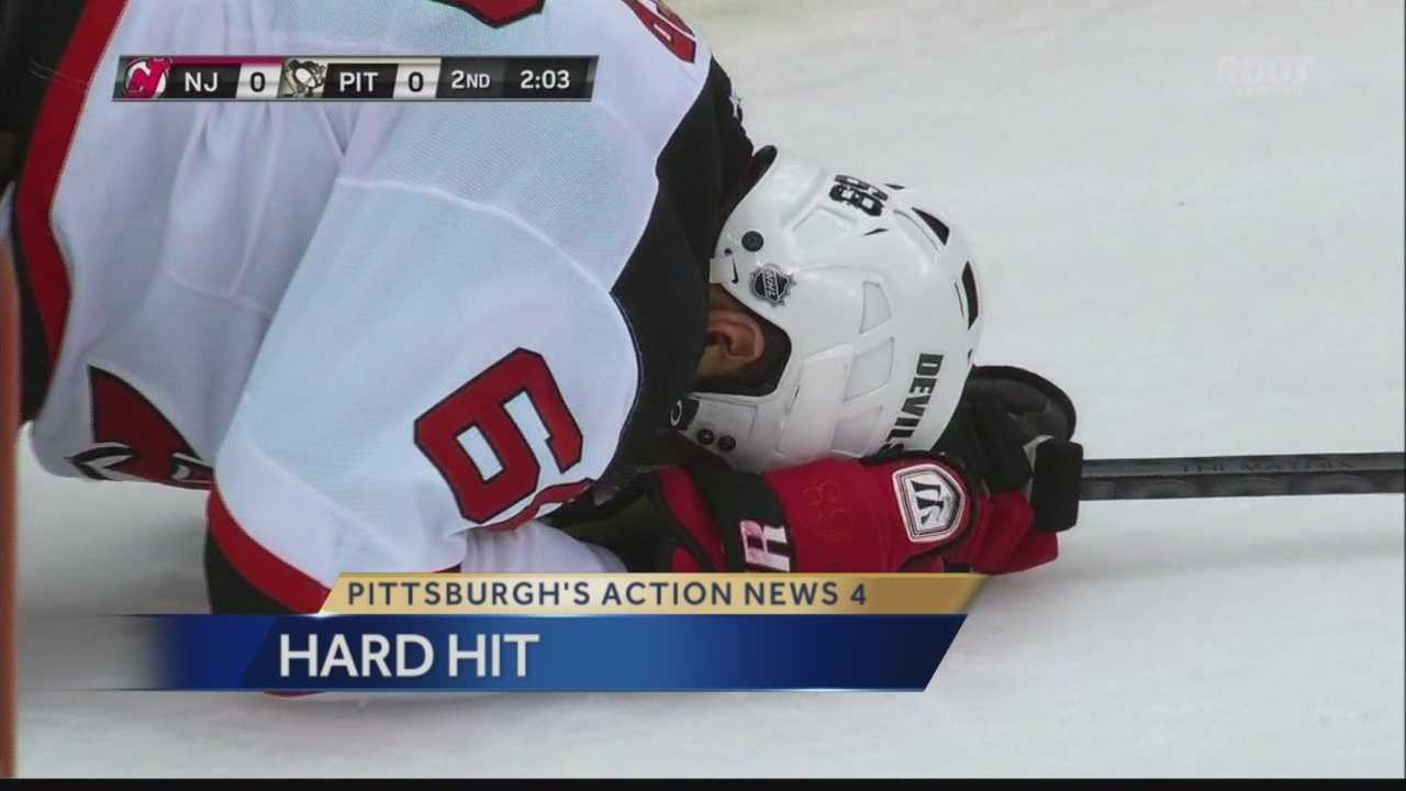 Jaromir Jagr laid on the ice for several minutes after a hit from Robert Bortuzzo.