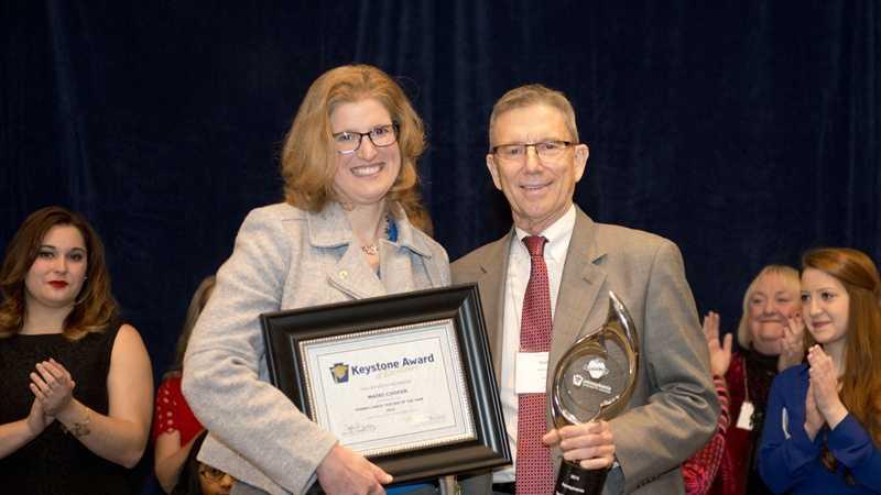 Fox Chapel Area High School teacher Mairi Cooper won the Pennsylvania Teacher of the Year award.