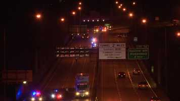 A man was struck by three vehicles on the Parkway East and died.