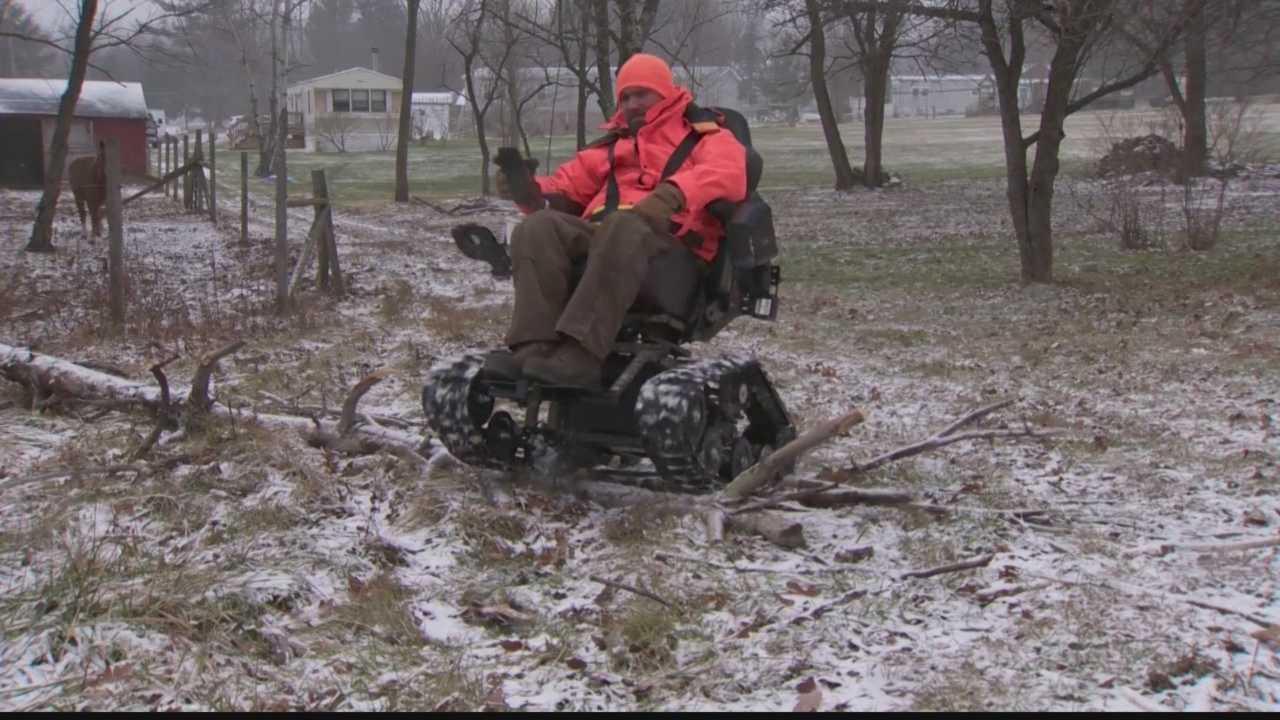 An all-terrain wheelchair from Trac-Fab.