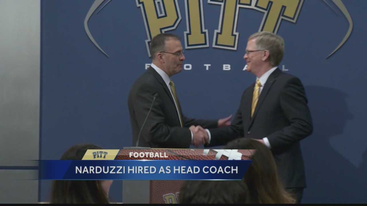 Pittsburgh's Action Sports Director Andrew Stockey has the latest on Friday's announcement by the University of Pittsburgh in naming Pat Narduzzi as its new head football coach.