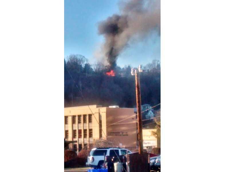 Fire on Peter Street in Wilkins Township.