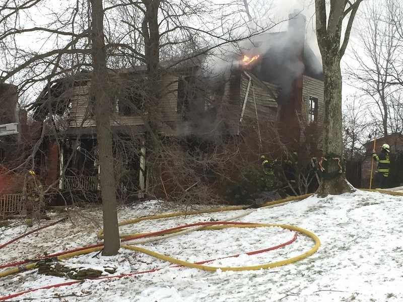 Fire raced through a house in Bethel Park Sunday afternoon. Crews had problems during the firefight because of frozen hydrants in the area. They had to call in help from surrounding communities. The house was left with major damage. The woman who lived in the house was not home during the blaze.