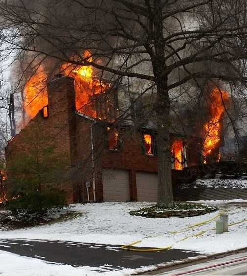 A house fire on Willow Glen Drive in Bethel Park.