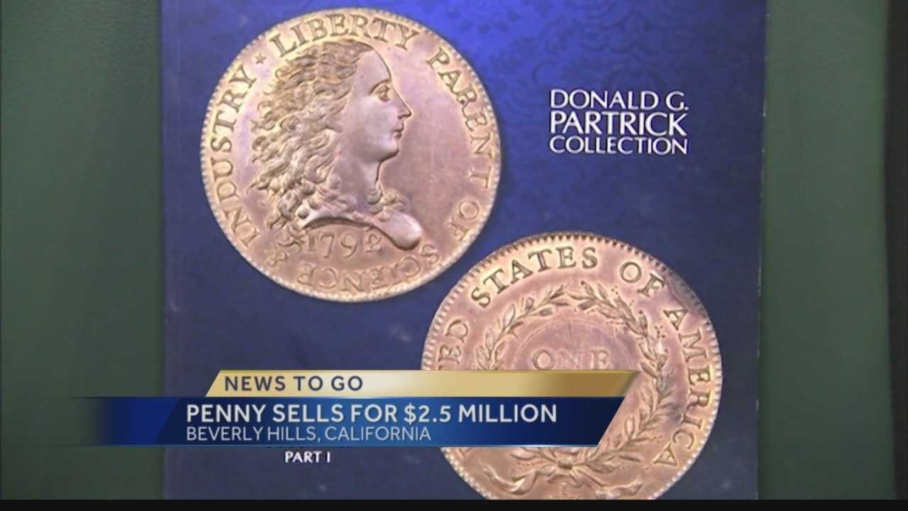 Pittsburgh's Action News 4's Kelly Frey has the details on the US Penny coin that sold for $2.5 million at a auction in Beverly Hills, CA