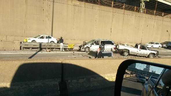 A crash on Interstate 376 near the Boulevard of the Allies exit.