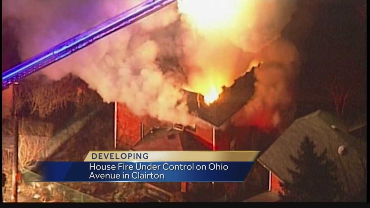 Pittsburgh's Action News 4's Janelle Hall reports that the large house fire on Ohio Ave in Clairton is now under control by fire crews.