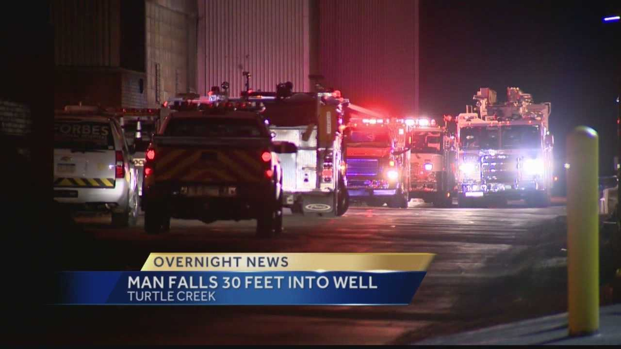 Crews were called out to Turtle Creek after reports that a man fell into a well.