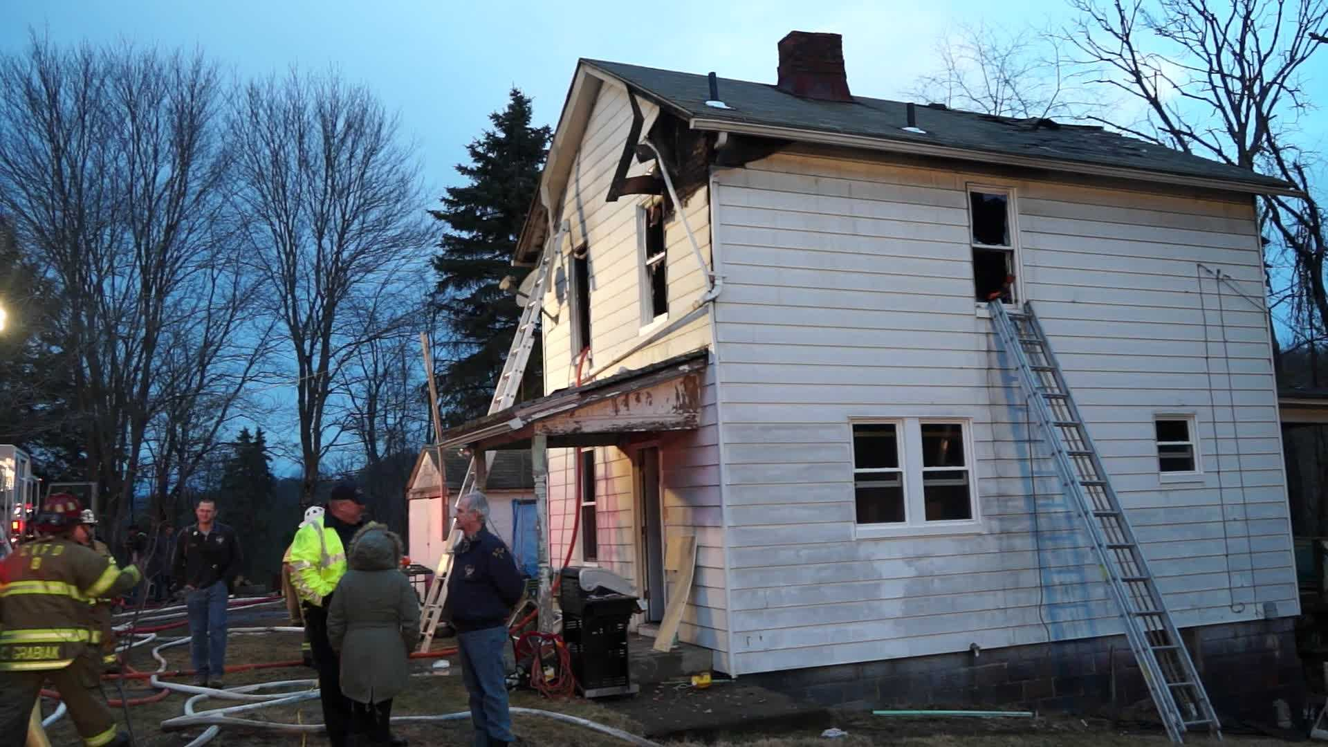 A two-story house was badly damaged in Westmoreland County fire.