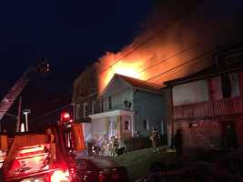 Fire crews battled an early morning blaze at an apartment home in Chalfant. Pittsburgh's Action News 4's Amber Nicotra and Photojournalist Eric Hinnebusch sent back this photos from the scene.