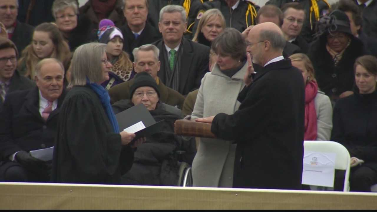 Tom Wolf is sworn in as the 47th governor of Pennsylvania.