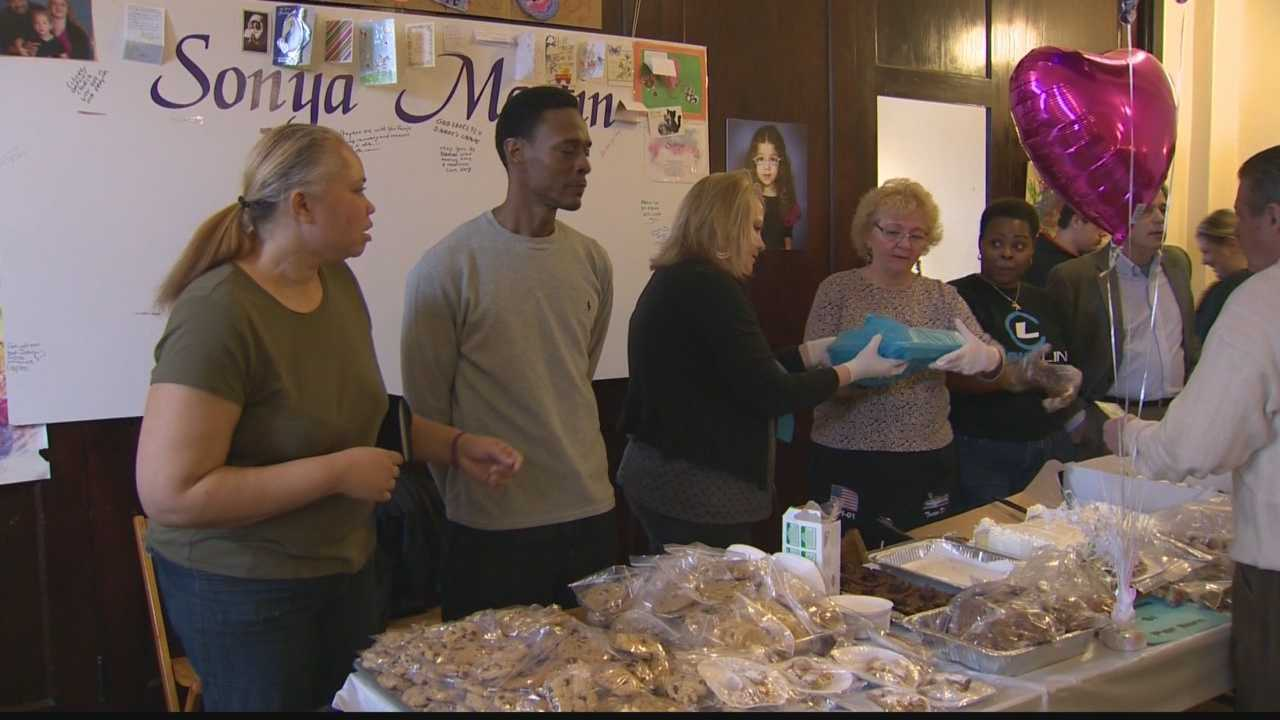 Family, friends and community members gathered for a spaghetti dinner fundraiser for 3-year-old Sonja Martin.