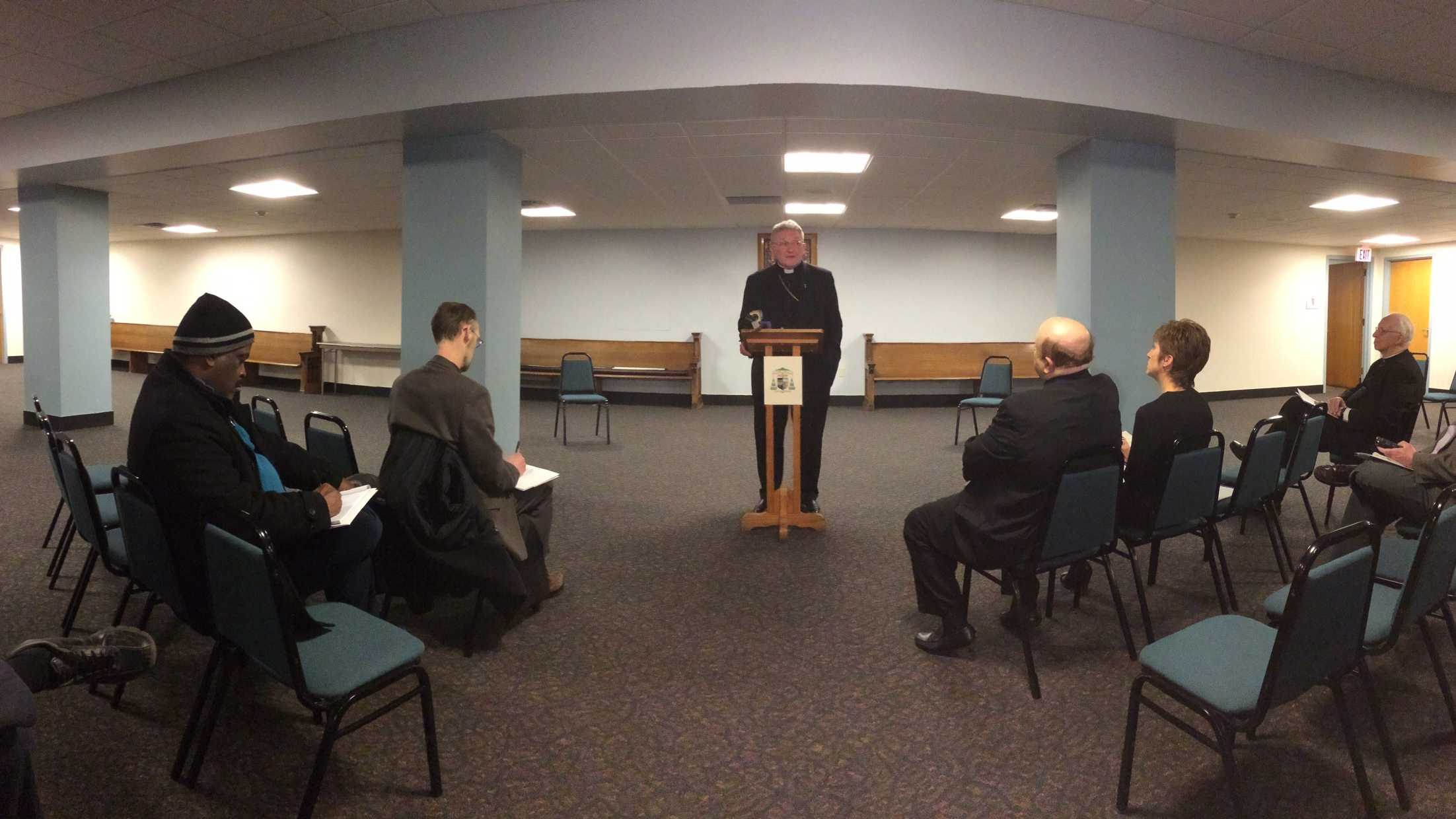 Bishop David A. Zubik of the Catholic Diocese of Pittsburgh presents the results of Our Campaign for The Church Alive!