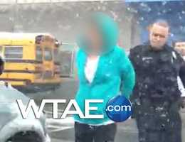 This image is from a video that was shared by a witness at the Propel School.