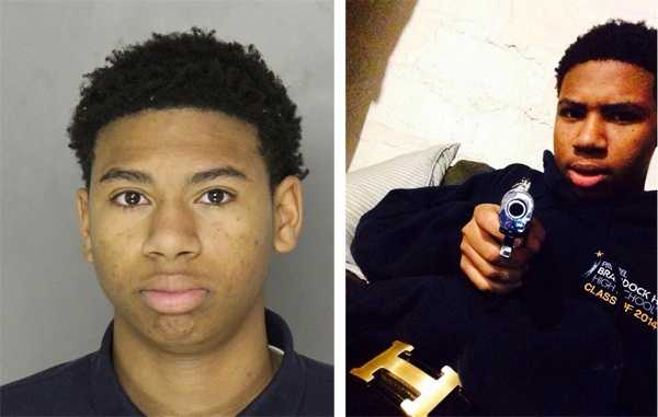 Shaquir Gilmore, as seen in a county mug shot and a Facebook photo.