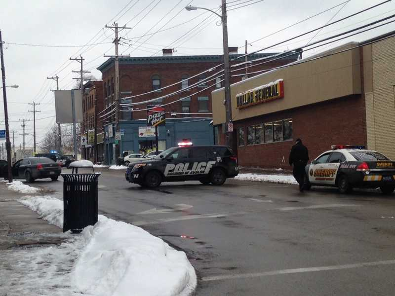 Police blocked Lincoln Avenue after a bank robbery was reported in Bellevue.
