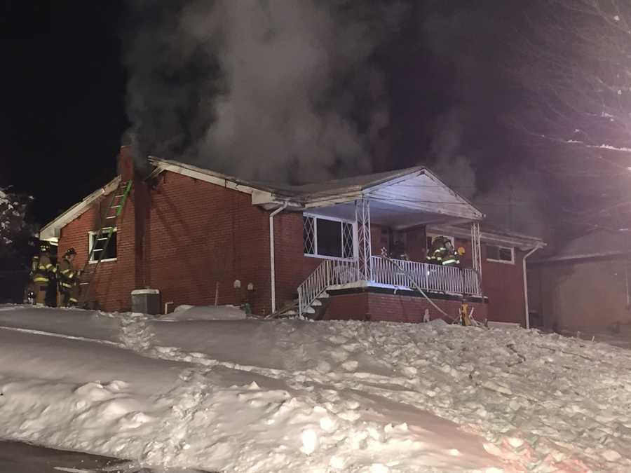 Fire crews from several Monoroeville fire departments battled a home fire overnight on the 1300 block of Hillside drive&#x3B; in which one woman had died, and a couple of firefighters were injured in the process.