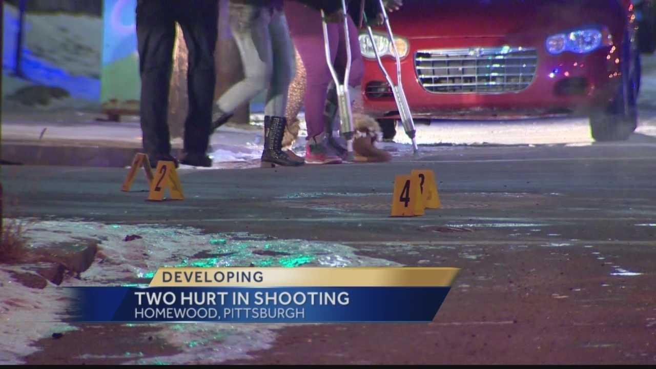 Pittsburgh's Action News 4's Jackie Schafer reports from the Homewood section of Pittsburgh where an overnight shooting has left two people hurt and police investigating the incident
