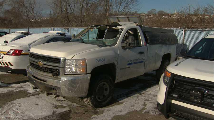 A Pittsburgh salt truck crashed in Elliott.
