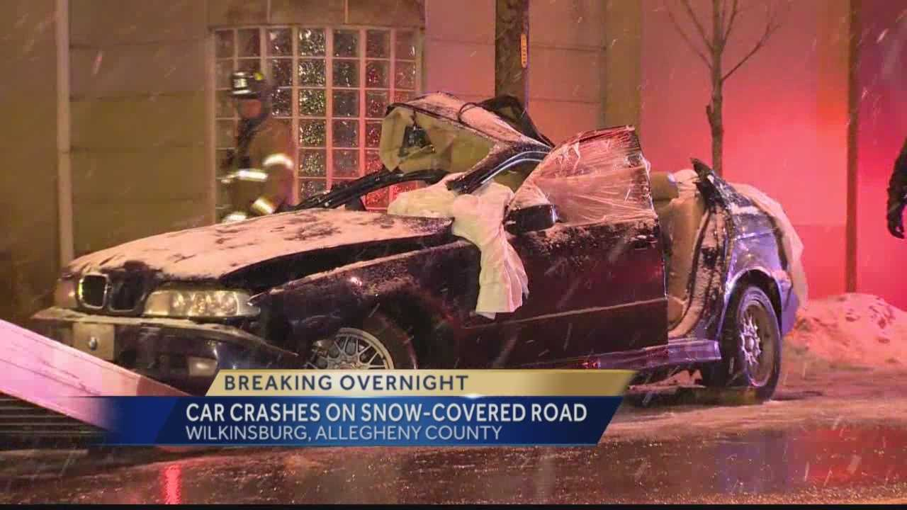 Pittsburgh's Action News 4's Amber Nicotra reports from Wilkinsburg when accident investigators are to determine if snow covered roads contributed to a series accident overnight.