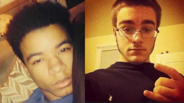 Maxwell Morton (left) is charged with fatally shooting Ryan Mangan (right).
