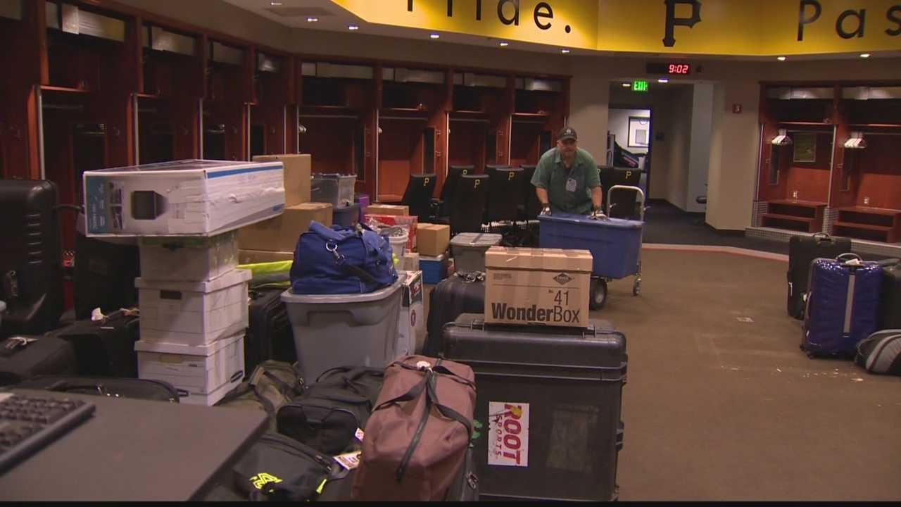 Baseball equipment at PNC Park is packed up for the annual trip from Pittsburgh to Bradenton for spring training.
