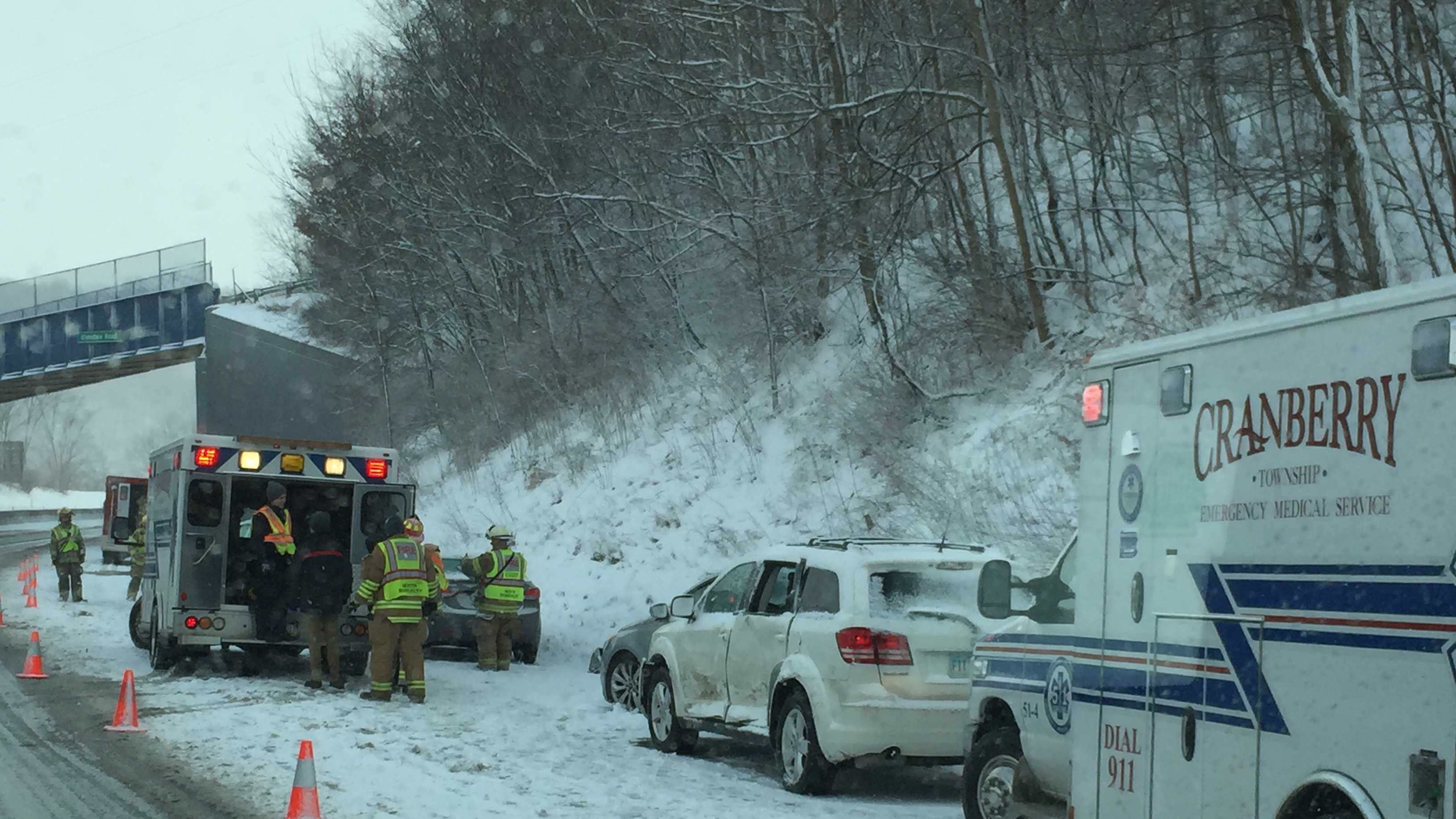 Turnpike control says there are multiple accidents in both directions between the Beaver Valley and Cranberry exits.
