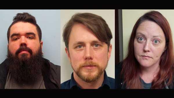 Left to right: John Nelson, Andrew Kubiak, Jessica Clark.