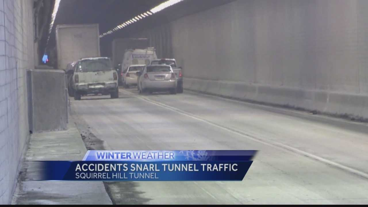 Drivers in multiple Squirrel Hill Tunnel crashes cite icy conditions